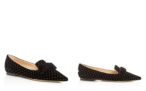 Jimmy Choo Women's Gala Embellished Velvet Pointed Toe Flats - Bloomingdale's_2