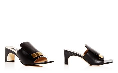 Sergio Rossi Women's Leather Mid-Heel Slide Sandals - Bloomingdale's_2