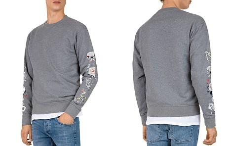 The Kooples Embroidered-Sleeve Crewneck Sweatshirt - Bloomingdale's_2
