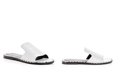 Sigerson Morrison Women's Estee Croc-Embossed Leather Slide Sandals - Bloomingdale's_2