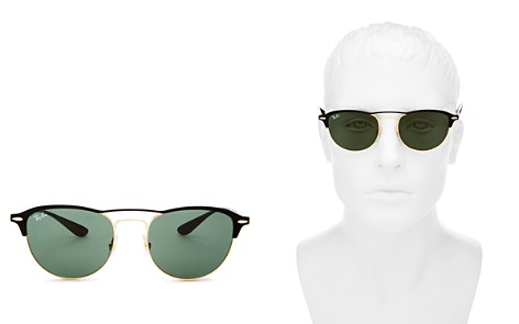 Ray-Ban Men's Brow Bar Round Sunglasses, 54mm - Bloomingdale's_2