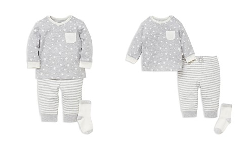 Little Me Boys' Star-Print Tee & Striped Jogger Pants Set with Socks - Baby - Bloomingdale's_2