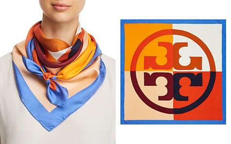 Tory Burch Color-Block Logo Silk Scarf - Bloomingdale's_2