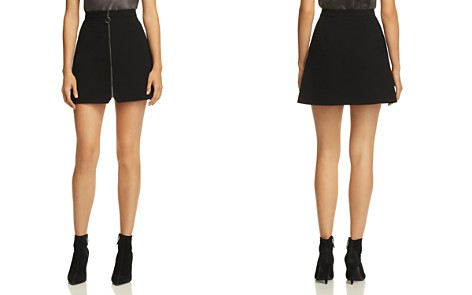 Alice + Olivia Riley Zip-Front Mini Skirt - Bloomingdale's_2