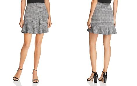AQUA Ruffled Glen Plaid Skirt - 100% Exclusive - Bloomingdale's_2