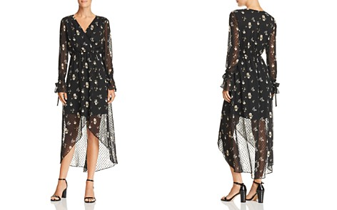 AQUA Floral Swiss Dot Faux-Wrap Dress - 100% Exclusive - Bloomingdale's_2