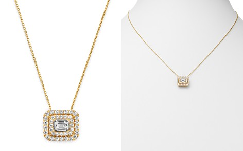 Bloomingdale's Diamond Halo Pendant Necklace in 14K Yellow Gold, 0.75 ct. t.w. - 100% Exclusive_2
