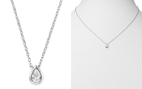 Bloomingdale's Diamond Teardrop Pendant Necklace in 14K White Gold, 0.33 ct. t.w. - 100% Exclusive_2