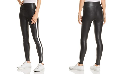 SPANX® Faux Leather Stripe Leggings - Bloomingdale's_2