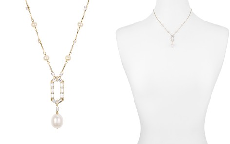 "Nadri Josephine Hexagonal Pendant & Cultured Freshwater Pearl Lariat Necklace, 16"" - Bloomingdale's_2"