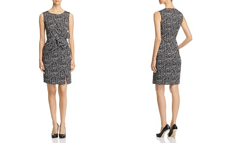 PAULE KA Bow-Detail Herringbone Jacquard Dress - Bloomingdale's_2