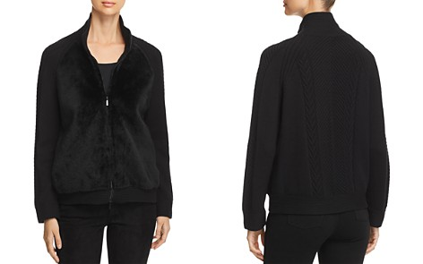 Lafayette 148 New York Shearling-Front Bomber Jacket - Bloomingdale's_2