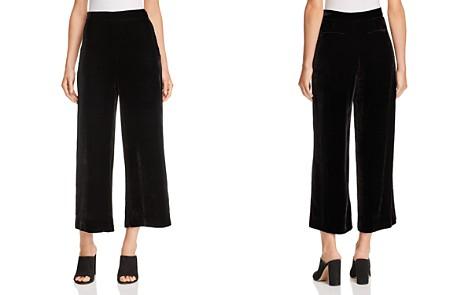 Rebecca Taylor Velvet Cropped Wide-Leg Pants - Bloomingdale's_2