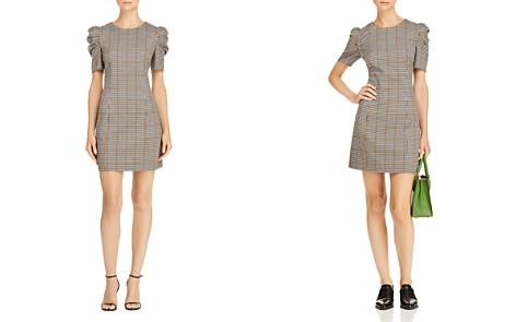 Amanda Uprichard Westwick Puff-Sleeve Plaid Dress - Bloomingdale's_2