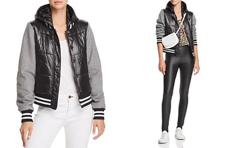 Generation Love Max Mixed-Media Hooded Varsity Jacket - Bloomingdale's_2