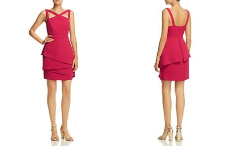 BCBGMAXAZRIA Strap-Detail Crepe Dress - Bloomingdale's_2