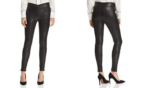FRAME Crossover-Waist Leather Pants - Bloomingdale's_2