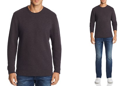 The Men's Store at Bloomingdake's Micro-Stripe Long-Sleeve Tee - 100% Exclusive - Bloomingdale's_2