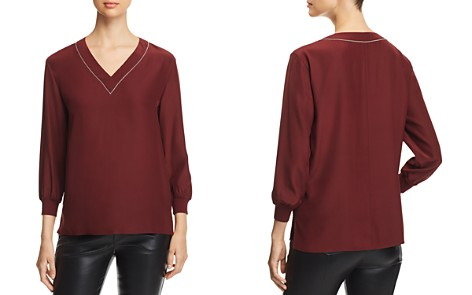 Lafayette 148 New York Wanda Embellished Silk Blouse - Bloomingdale's_2