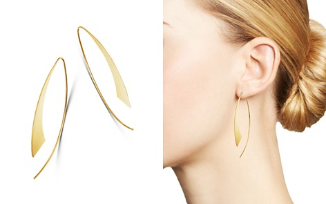 Moon & Meadow 14K Yellow Gold Concave Bar Thread Through Earrings - 100% Exclusive - Bloomingdale's_2