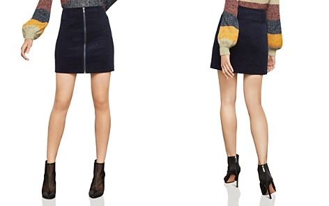 BCBGMAXAZRIA Zip-Front Corduroy Mini Skirt - 100% Exclusive - Bloomingdale's_2