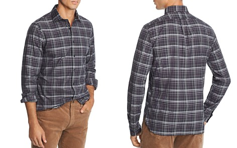The Men's Store at Bloomingdale's Plaid Broadcloth Slim Fit Shirt - 100% Exclusive_2