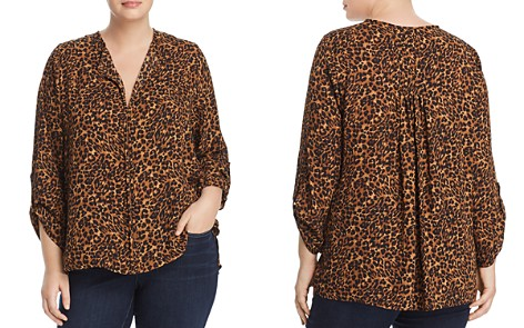 B Collection by Bobeau Curvy Cristy Cheetah-Print Top - Bloomingdale's_2
