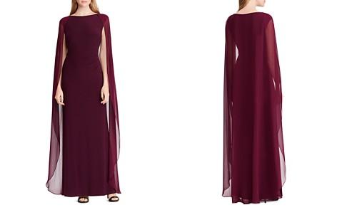 Lauren Ralph Lauren Cape-Overlay Gown - Bloomingdale's_2