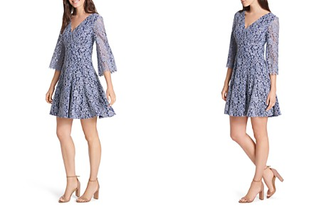 Eliza J Bell-Sleeve Lace Dress - Bloomingdale's_2
