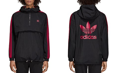 adidas Originals Three Stripe Hooded Windbreaker - Bloomingdale's_2