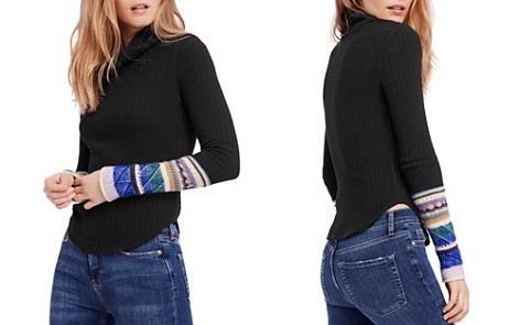 Free People Mixed-Up Cuff Sweater - Bloomingdale's_2