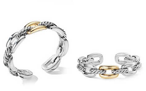 David Yurman Wellesley Link Single Stack Bracelet in Sterling Silver with 18K Yellow Gold - Bloomingdale's_2