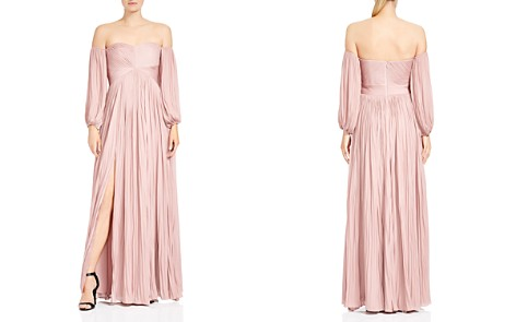 HALSTON HERITAGE Pleated Off-the-Shoulder Gown - Bloomingdale's_2