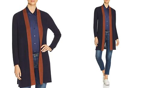 Eileen Fisher Contrast-Trim Long Open Cardigan - Bloomingdale's_2