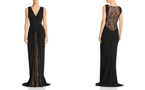 Tadashi Shoji Lace & Pintuck Sleeveless Gown - Bloomingdale's_2