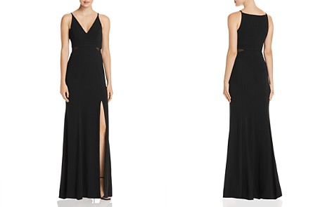AQUA V-Neck Illusion Gown - 100% Exclusive - Bloomingdale's_2