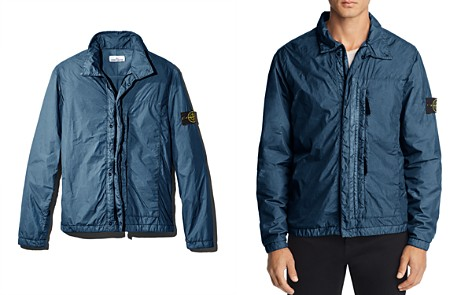 Stone Island Garment-Dyed Regular Fit Zip-Front Overshirt - 100% Exclusive - Bloomingdale's_2