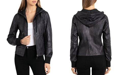 Bagatelle Leather Hooded Jacket - Bloomingdale's_2