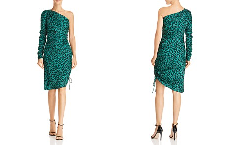 MILLY Cara One-Shoulder Silk Leopard Dress - Bloomingdale's_2