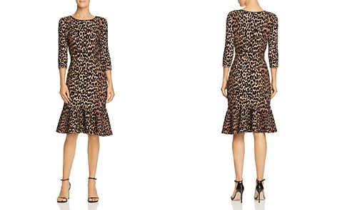 MILLY Textured Leopard-Print Dress - Bloomingdale's_2