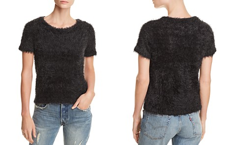 AQUA Eyelash Short-Sleeve Sweater - 100% Exclusive - Bloomingdale's_2