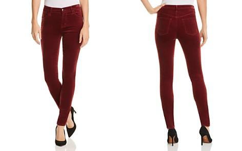 J Brand Maria Velvet Skinny Jeans in Oxblood - Bloomingdale's_2