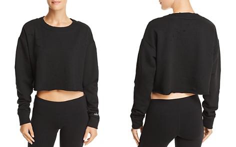 Alo Yoga Distressed Cropped Sweatshirt - Bloomingdale's_2