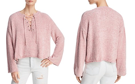 Sadie & Sage Cropped Lace-Up Sweater - Bloomingdale's_2