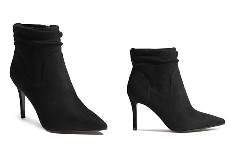 KAREN MILLEN Women's Microfiber High-Heel Ankle Booties - Bloomingdale's_2
