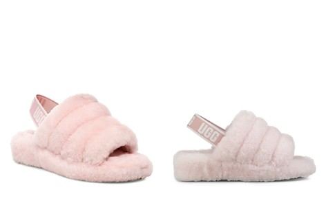 UGG® Women's Fluff Open Toe Fur Slide Slippers - Bloomingdale's_2