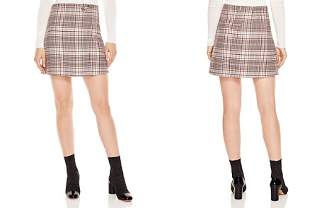 Sandro Power Plaid Toggle Mini Skirt - Bloomingdale's_2