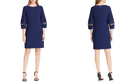 Lauren Ralph Lauren Lace-Trim Crepe Shift Dress - 100% Exclusive - Bloomingdale's_2