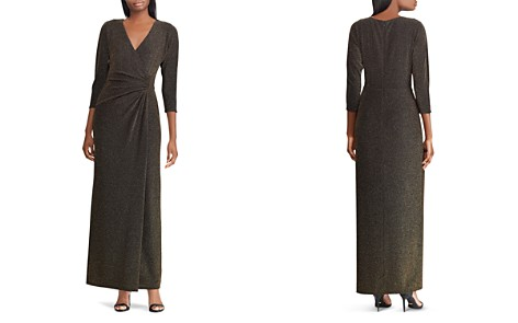 Lauren Ralph Lauren Metallic Jacquard Surplice Dress - Bloomingdale's_2