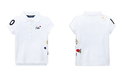 Polo Ralph Lauren Girls' Polo Shirt with Varsity Patches - Little Kid - Bloomingdale's_2